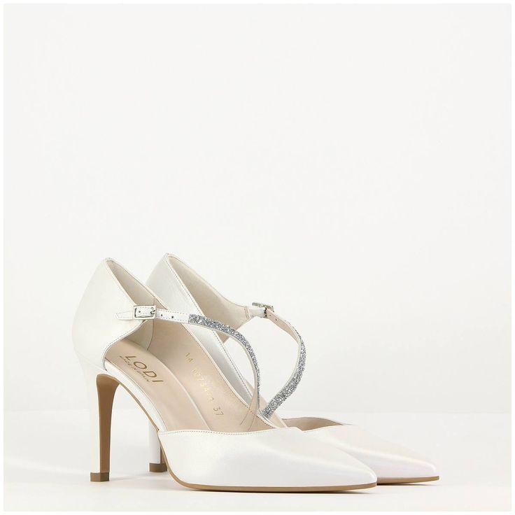 Zapatos de novia modelo Ranger de la marca Lodi, con incrustaciones de cristales Swarovsky