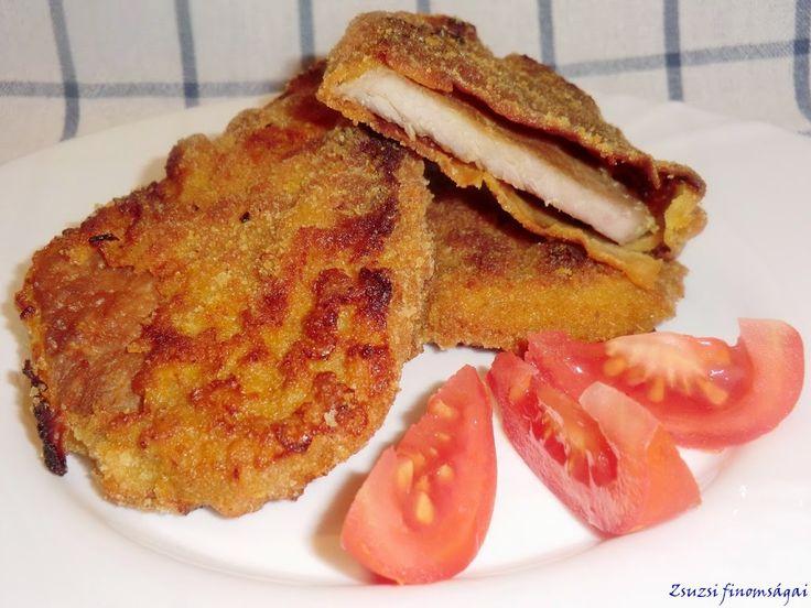 Rántott hús sütőben sütve -- receptek365.info