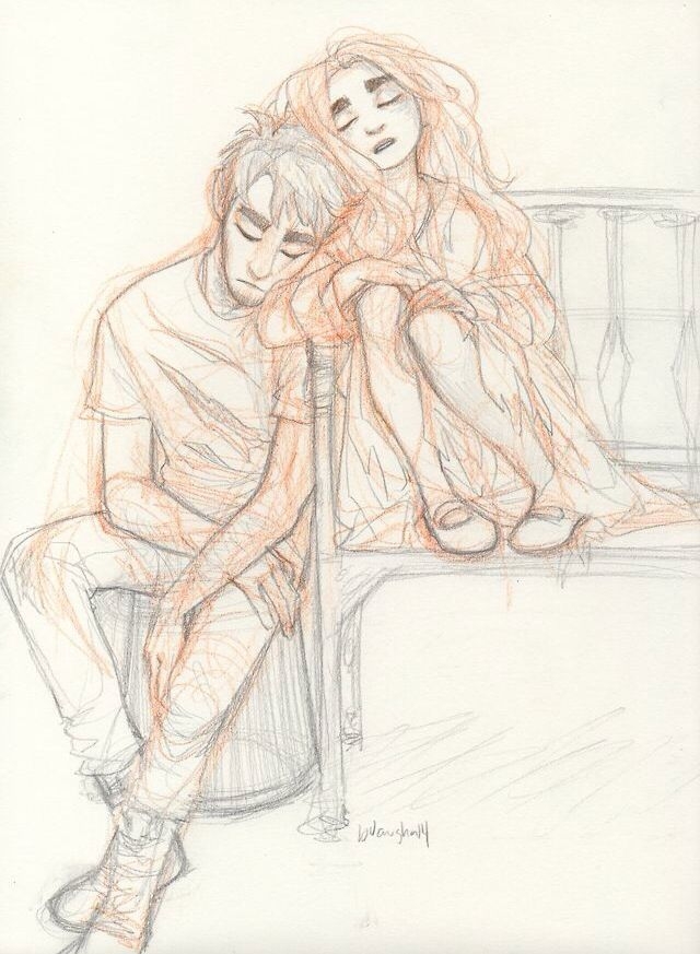 Nap Time | Couple Drawing