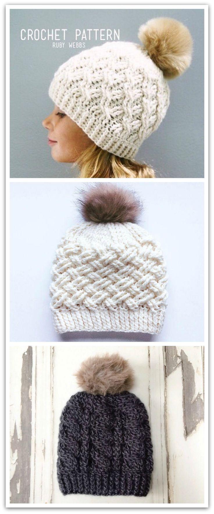 CROCHET PATTERN, Crochet Hat Pattern, Crochet Cables, DIY Hat Pattern