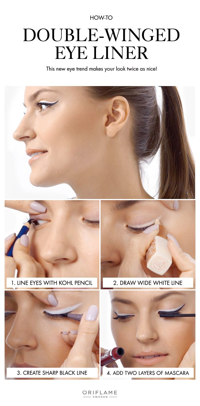 Give your look a bit more impact with this double winged eyeliner that's easy to apply.