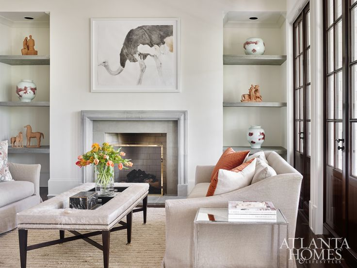 Webb Came Across The Striking Watercolor Ostrich Painting By Heather Lancaster Via Spalding Nix Fine Art S Atlanta Homesthe