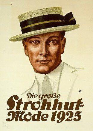 1925 - The big straw hat style for men (via Flickr) - (vintage lady 8d7477c1bea