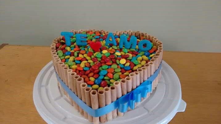 Torta M&M Corazon