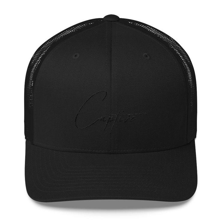 C A P T I V E Signature Trucker || Black on Black