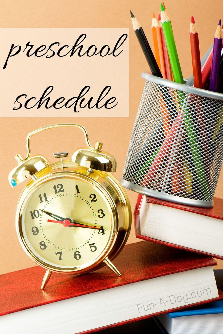 Preschool schedule for a half day pre-k class - great information!
