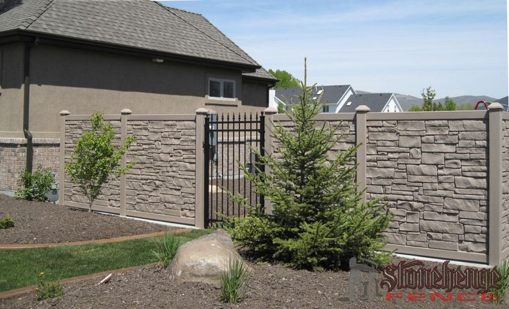 Stonehenge Fence provides the industries best simtek stone and concrete fencing. This durable material will add to the look and value of your home.