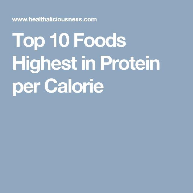 Top 10 Foods Highest in Protein per Calorie