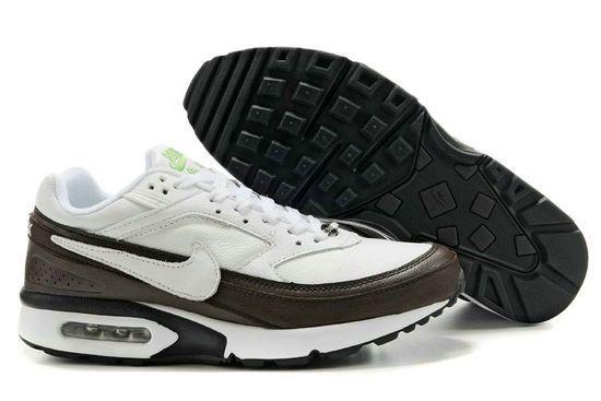 Danmark Billige Nike Air Max Classic BW Trainers Mænd - White/Dark Brown, www.cheapshoeshub#com nike free 5.0 mens, air max 90, nike air, nike free shoes sale,
