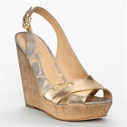 Coach Jessy Wedge -mine aren't gold though