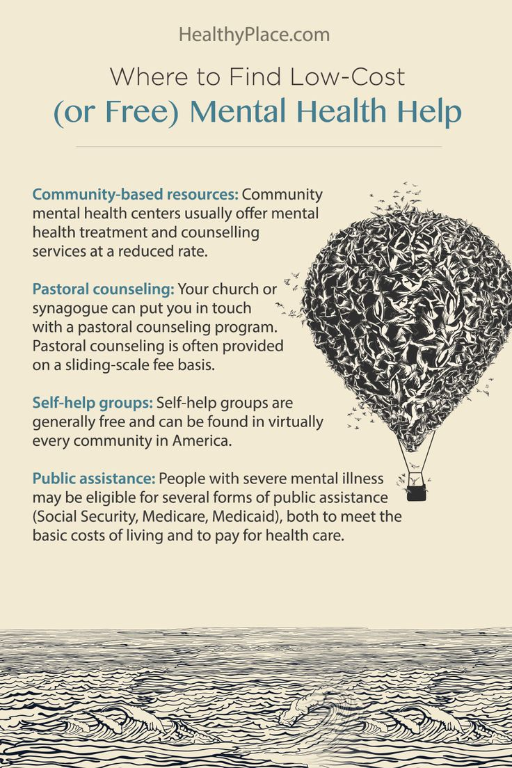 """""""Information on methods to pay for mental health services plus mental health resources for the uninsured."""" www.HealthyPlace.com"""