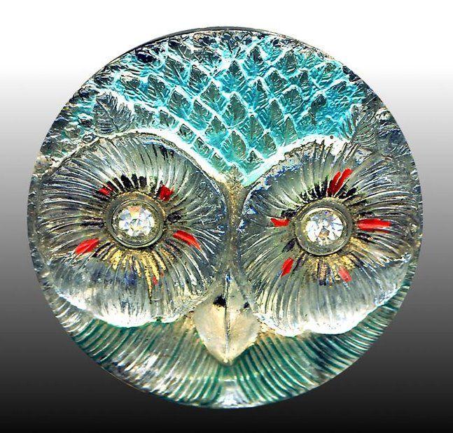 (KO) Beautiful owl button! Gorgeous!