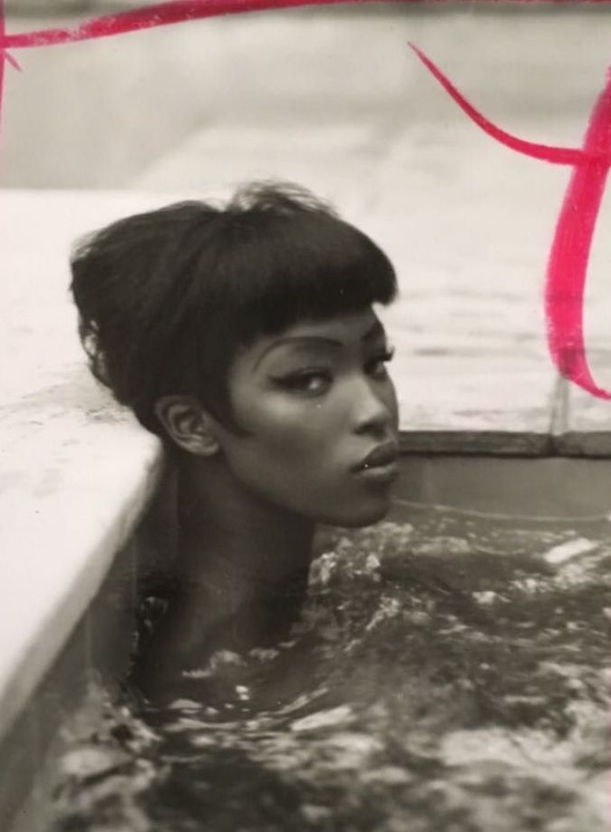 Naomi photographed for Italian Vogue by Steven Meisel in 1989 (Unpublished)