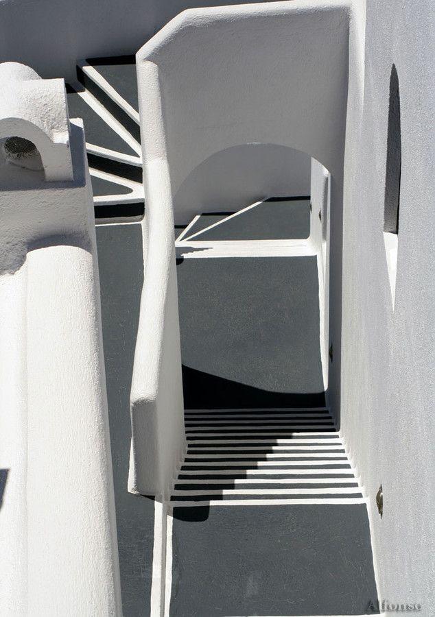 Santorini stairs, Greece