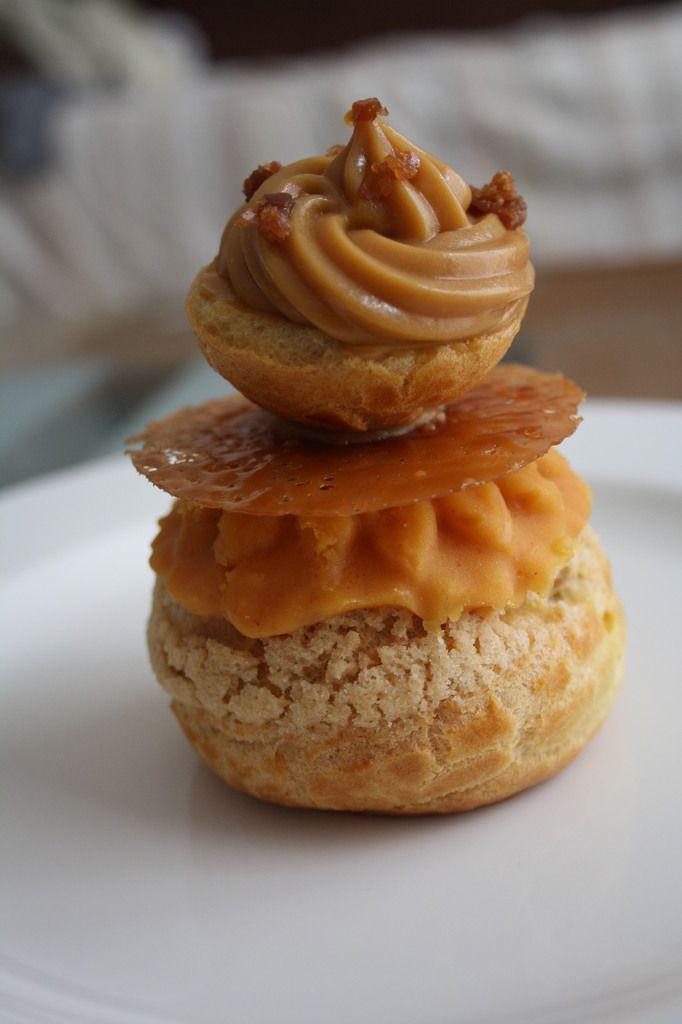 Religieuse caramel au beurre salé Crèmes et douceurs - La touche d'Agathe - recette, recipe, kitchen, deco - sweet end -