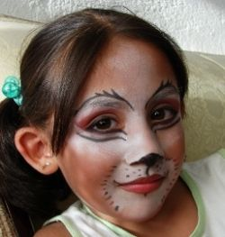Cat Face Paint -- Kitty Cat Face Painting Designs