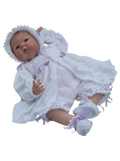 Knitting - Doll Patterns - Outfits for Girls & Dolls Patterns - Lacy Picot Edged Matinee Set
