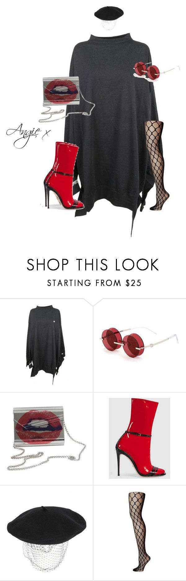 """Untitled #698"" by stylzbyang ❤ liked on Polyvore featuring Vetements, Percy Lau, Jimmy Choo, Gucci, Silver Spoon Attire and Pretty Polly"