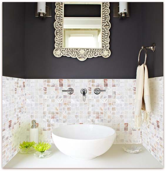 Home Elements Mother Of Pearl Tile Pearl Glass Mosaic
