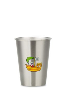 NEW LOOK PIRATE 350ml illustrated stainless steel cup from ecococoon. RRP $10.95