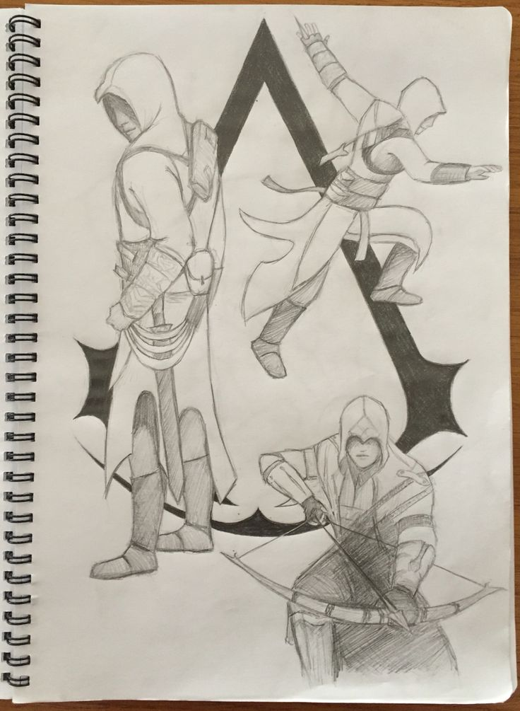 By GoldFinch :3  assassin's creed pencil drawing :)