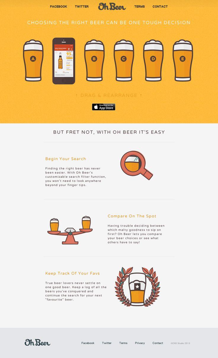 Unique Web Design, Oh Beer! #webdesign #design (http://www.pinterest.com/aldenchong/)