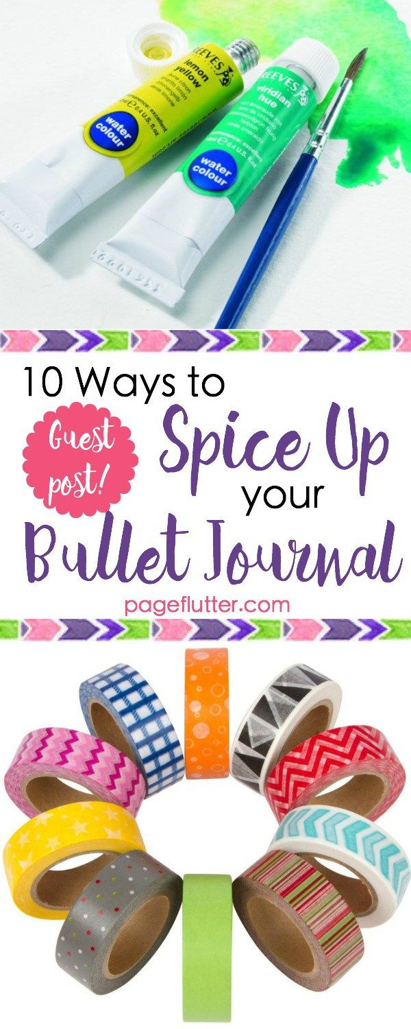 10 Ways to Spice Up Your Bullet Journaling | pageflutter.com | Creative ways to blend bullet journaling and art journaling!