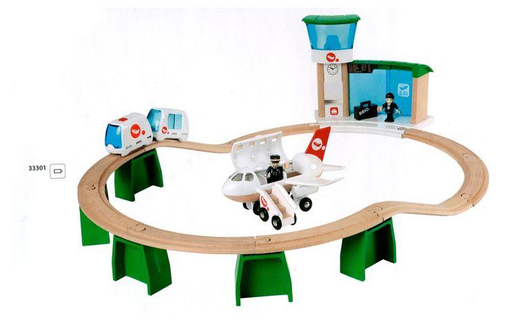 Игровой набор «Монорельс в аэропорт с самолетом и поездом» Brio