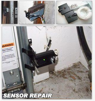 Garage door sensor repair garage door sensors pinterest for Fix garage door sensor