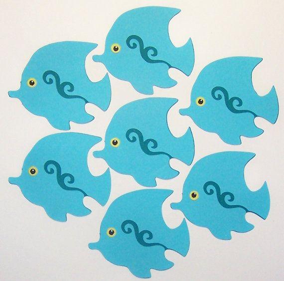 Die cut fish 3pcs cards diy scrapbooking paper by for Fish die cuts