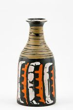 "GORKA LIVIA ABSTRACT RETRO VASE 8.2"", 1950'S ART POTTERY, EXCELLENT CONDITION !"