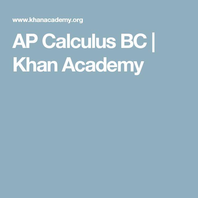AP Calculus BC | Khan Academy