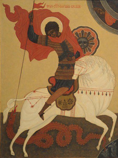 Imagini pentru saint george and dragon byzantine iconography