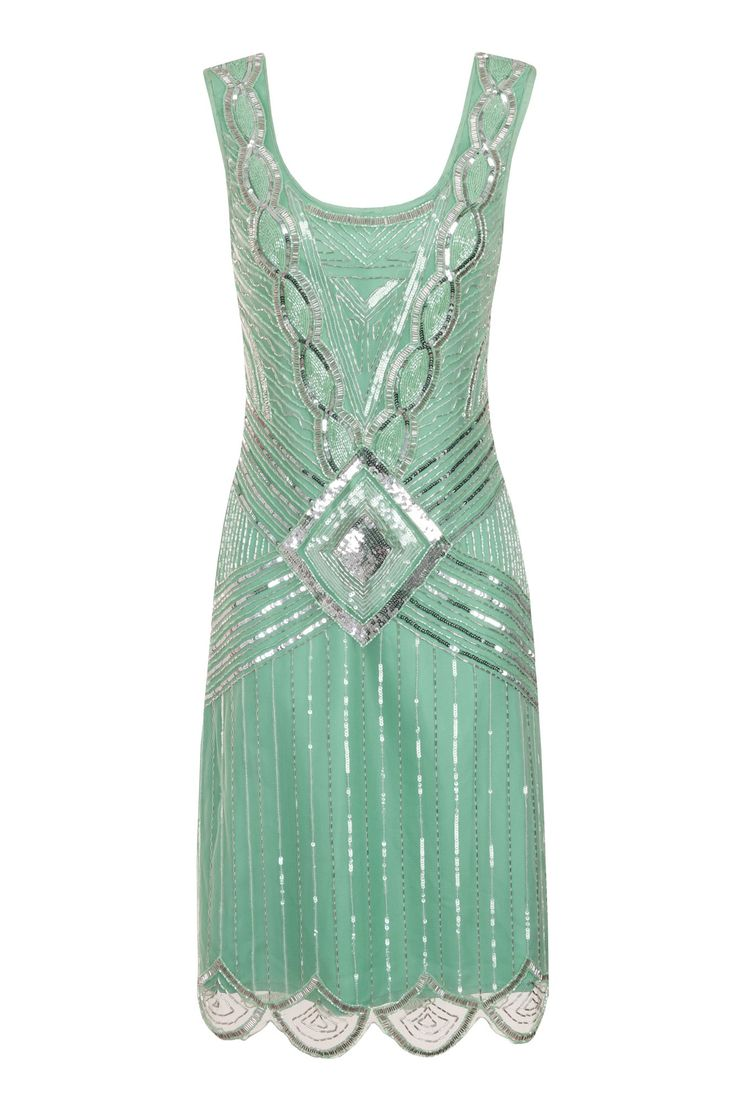 Athena Mint Sequin Gatsby Gown