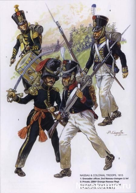 SOLDIERS- Courcelle: Nassau and Colonial Troops 1815, by Patrice Courcelle.