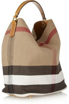 My new found love!!!                      Burberry Susanna Checked Canvas Hobo Bag ♥♥
