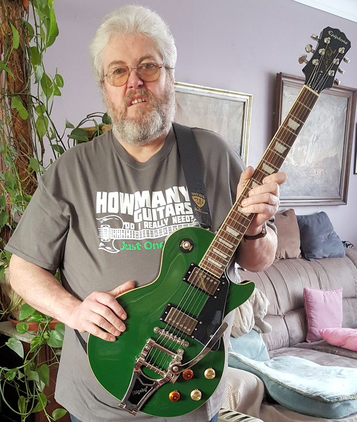 My Epiphone Joe Bonamassa Signature Lim Ed 2015 Inverness Green with Bigsby B70