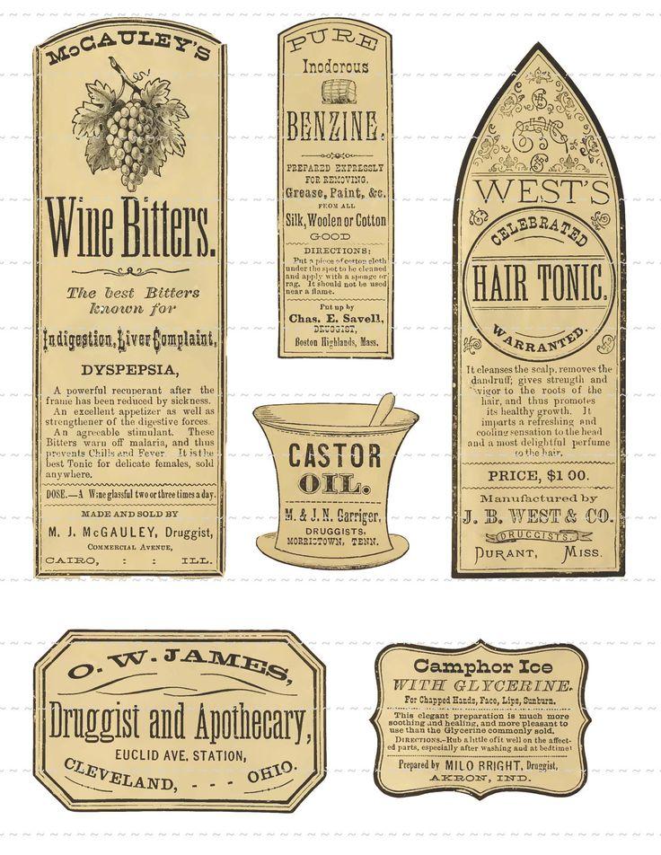 Digital Download Collage Sheet Antique 1800's por PrintMarksTheSpot