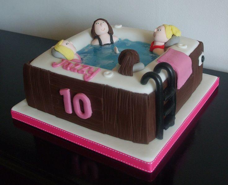 Hot Tub birthday cake   Flickr - Photo Sharing!