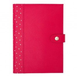 A5 LEATHER NOTEBOOK: BERRY