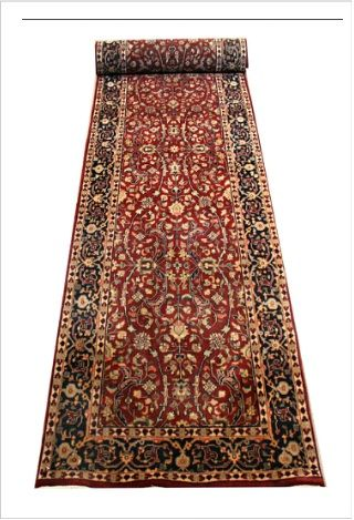 Buy Ghom Design 1 Hall Runner Traditional Indian Rugs   Traditional Ghom floral motif. Intricately woven using finely spun New Zealand wool pile. Solid sturdy rug.  #rugsmelbourne #melbournerugs