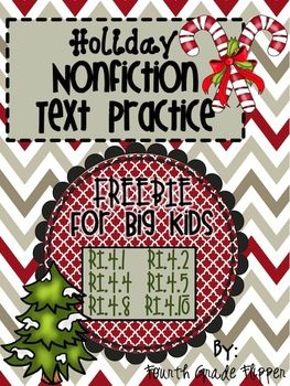 FREE Holiday Nonfiction Text Activities {Aligned to Common Core}