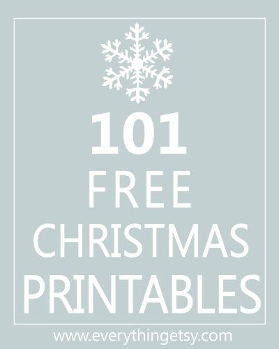 101 Christmas Printables at EverythingEtsy.com