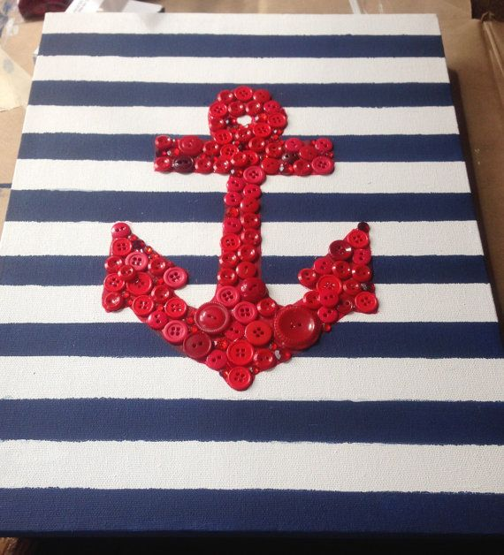Anchor Button Art by RhodyCreations on Etsy