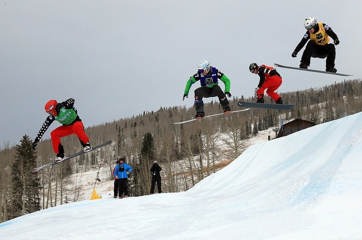 Chris Robanske during Snowboardcross Telluride World Cup Team Event