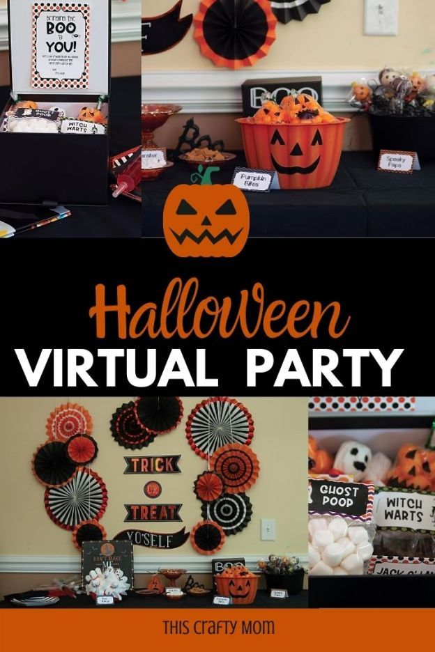 Virtual Halloween Party On Zoom In 2020 Halloween Party Halloween Kit Halloween Games For Kids