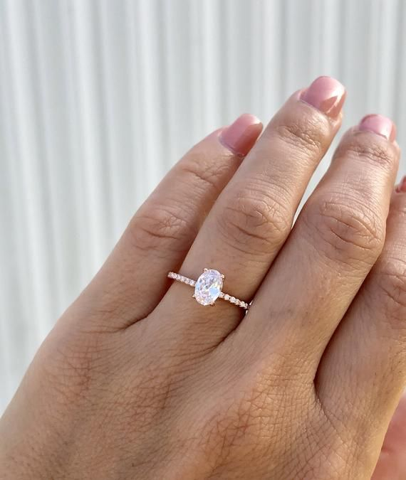 Oval Engagement Ring Rose Gold Engagement Ring Fine Quality Etsy Rose Engagement Ring Oval Engagement Ring Rose Gold Rose Gold Engagement Ring