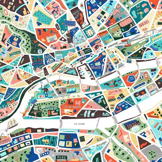 Highly detailed illustrated map of NantesSee more detailed view here: http://www.antoinecorbineau.com/A-Map-of-Nantes-new-POUR LES NANTAIS, ENTREZ LE CODE: <b>SPECIALNANTES</b>POUR PASSER RECUPERER VOTRE COMMANDE SUR RDV COURS DES 50 OTAGES ET AINSI EVITER LES FRAIS DE PORT.JE VOUS CONTACTERAI APRES VOTRE COMMANDE POUR PLUS D'INFO PRATIQUES-STANDARD POSTER: Poster print on matt coated paper 170g/m²70cm x 50cm or 100cm x 70cm-LA...