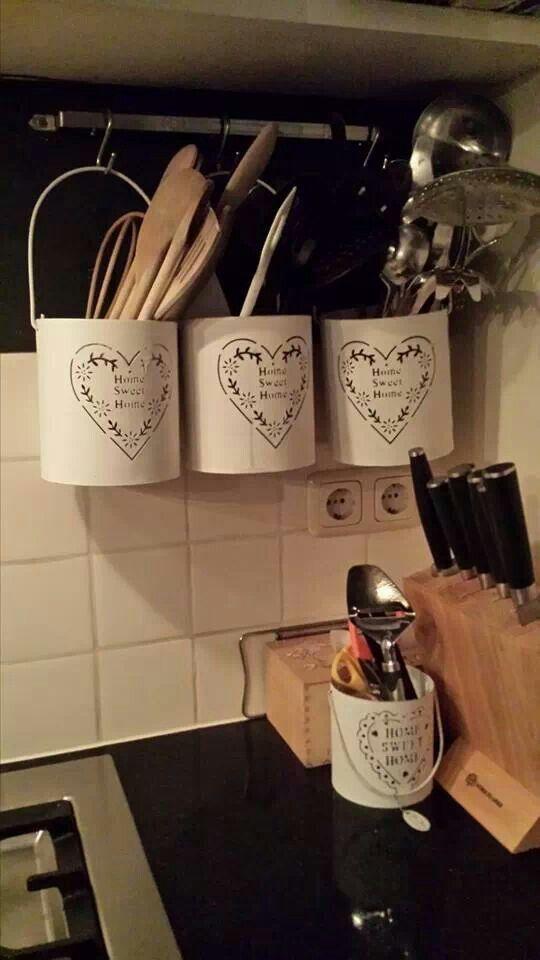 Leuk idee in onze keuken.... Windlichten van de Action