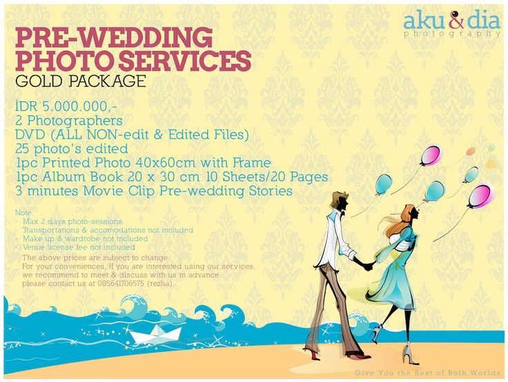 Gold Package Jakarta Prewedding Photography Www Akudandiaphoto Our Price List Pinterest